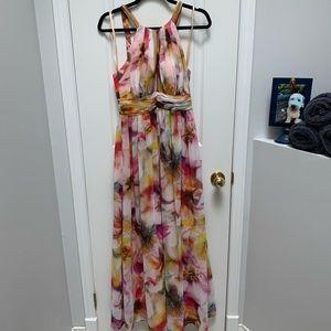 DECODE 1.8 | High Neck Crisscross Back Gown